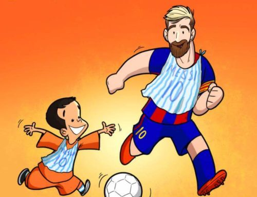 Messi and his Little fan :)