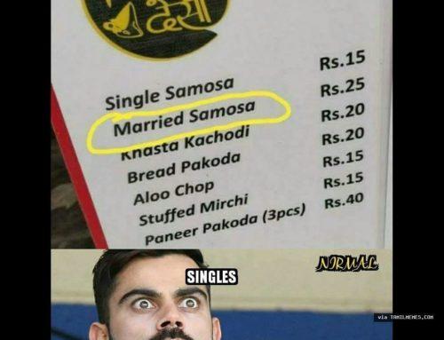 Married Samosa ??!!