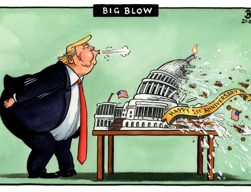 Big Blow – Happy Trump Anniversary