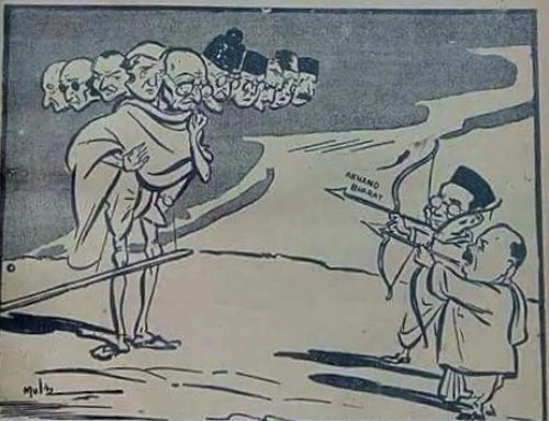 Not Mahatma Gandhi, Ravana Gandhi – A 1945 Cartoon