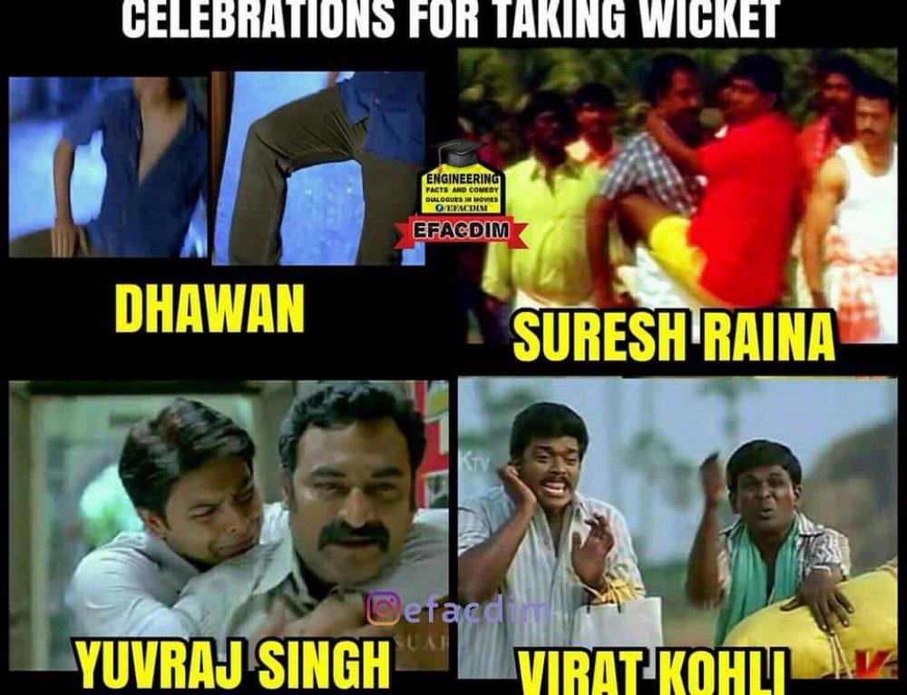 Wicket taking Celebrations