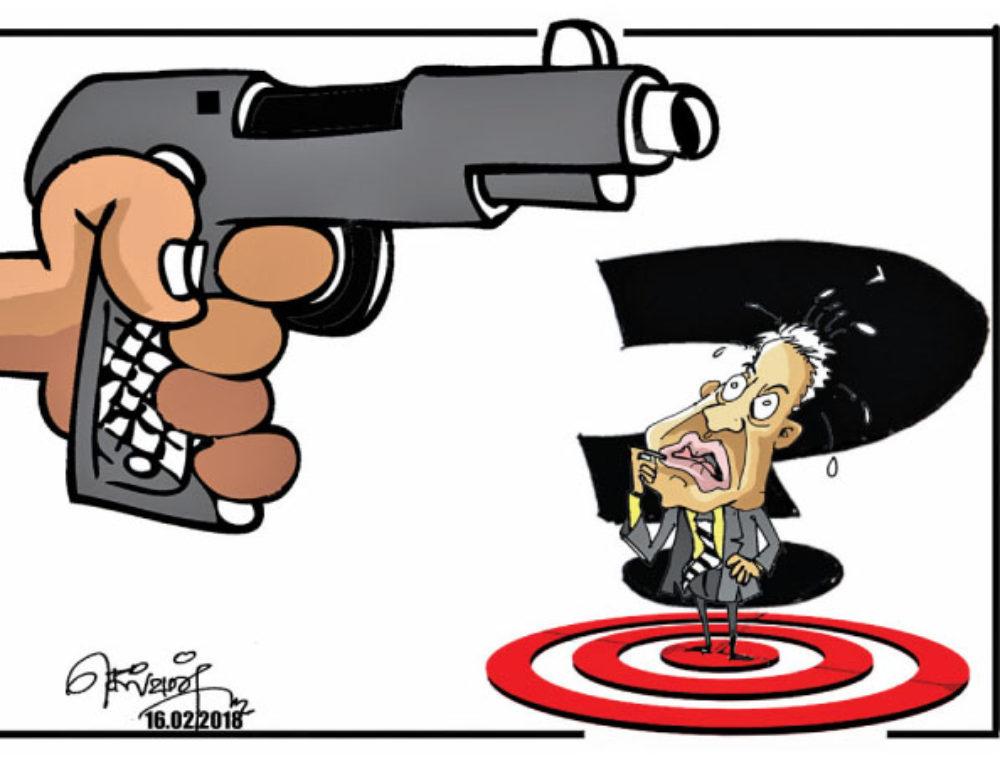 Gun point !