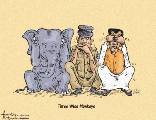 Three wise monkeys from Sri Lanka